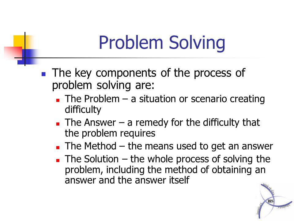 Problem solving skills ppt