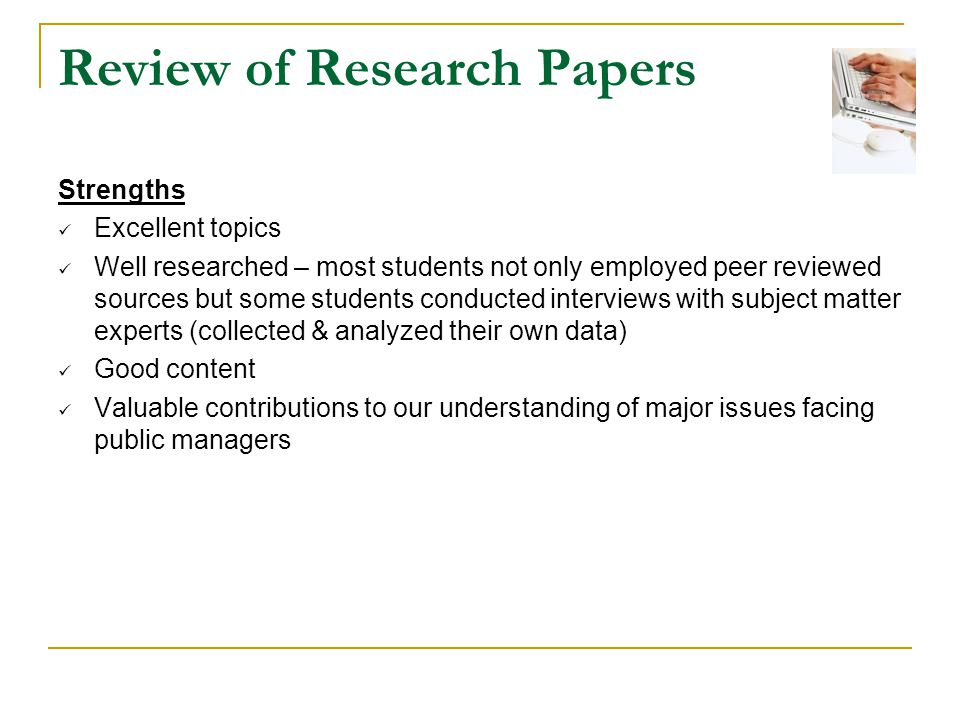 research papper This handout provides detailed information about how to write research papers including discussing research papers as a genre, choosing topics, and finding sources.