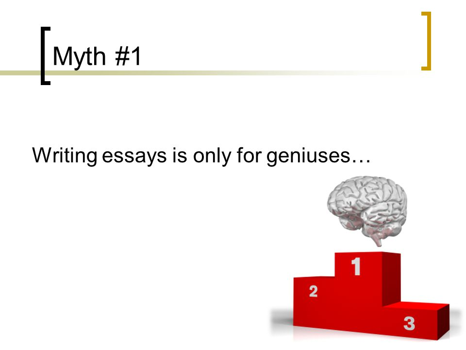 Help for an Essay on myths in writing?