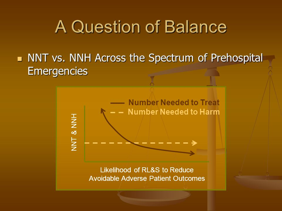 A Question of Balance NNT vs. NNH Across the Spectrum of Prehospital Emergencies NNT vs.