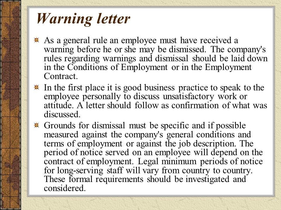 Sample Warning Letter For Poor Job Performance - Cover Letter ...