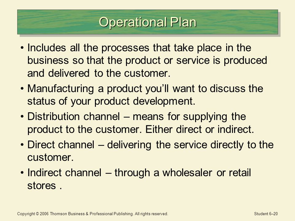 Operational business plan