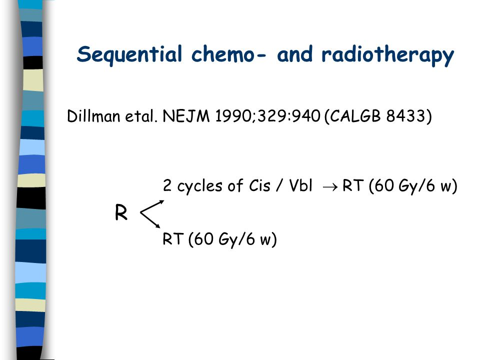 Sequential chemo- and radiotherapy Dillman etal.