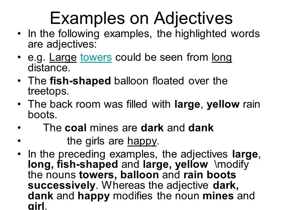Need good descriptive words to descibe the following:?