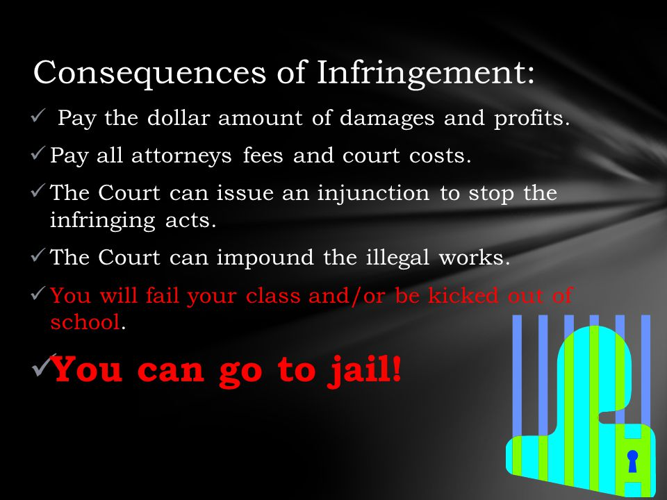 Pay the dollar amount of damages and profits. Pay all attorneys fees and court costs.