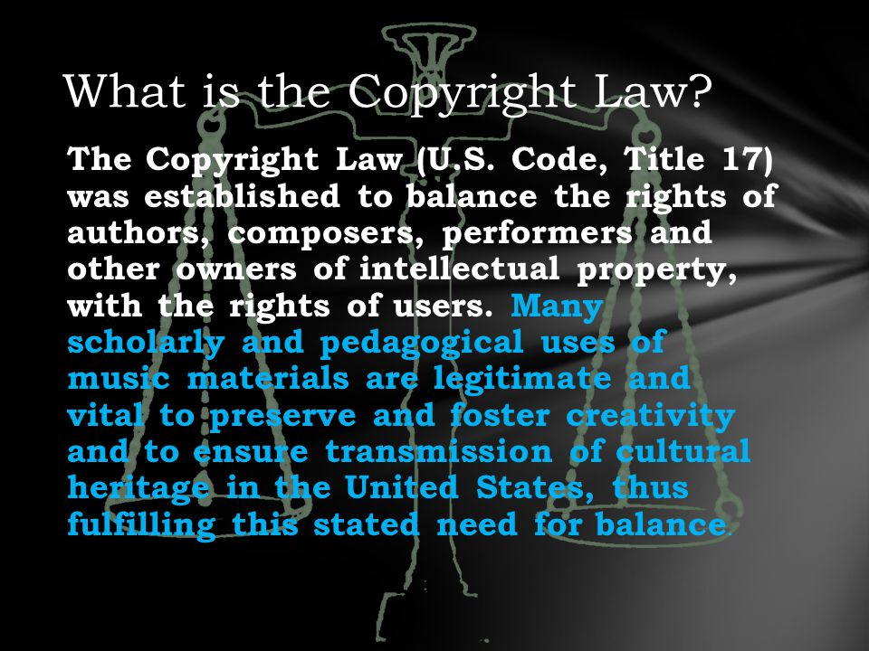 The Copyright Law (U.S.
