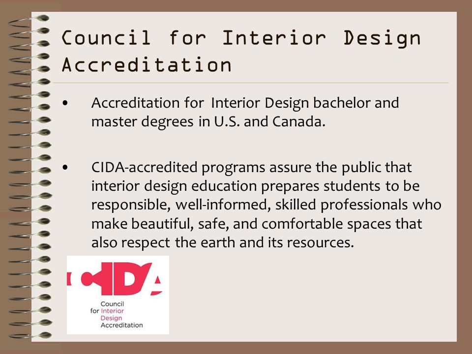 Council For Interior Design Accreditation Bachelor And Master Degrees In US