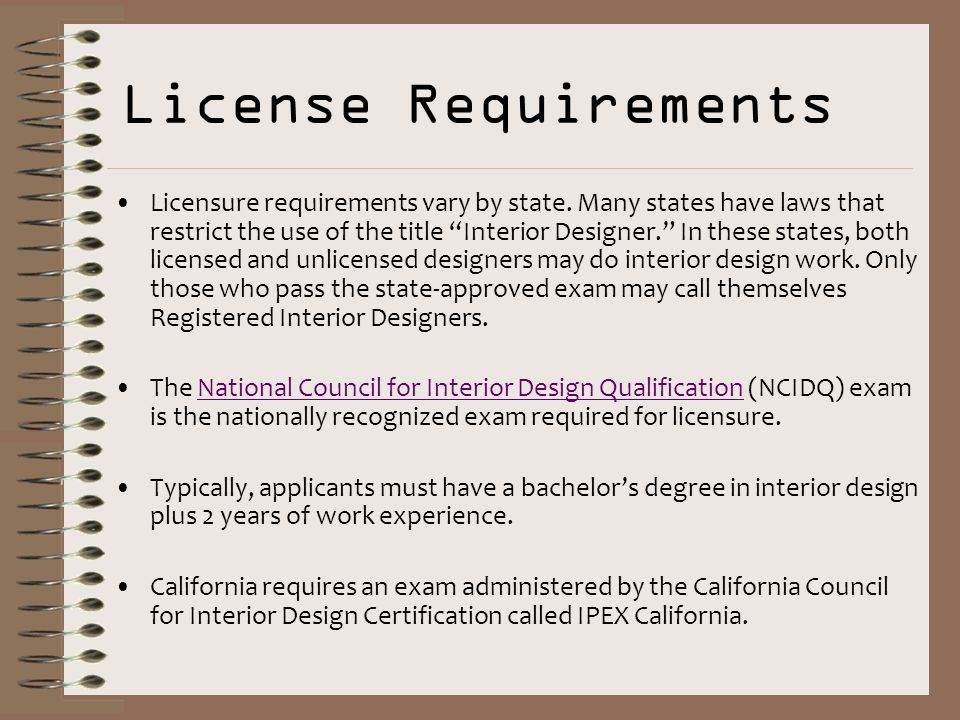 License Requirements Licensure Vary By State