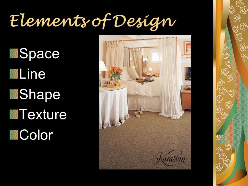 4 Elements Of Design Space Line Shape Texture Color