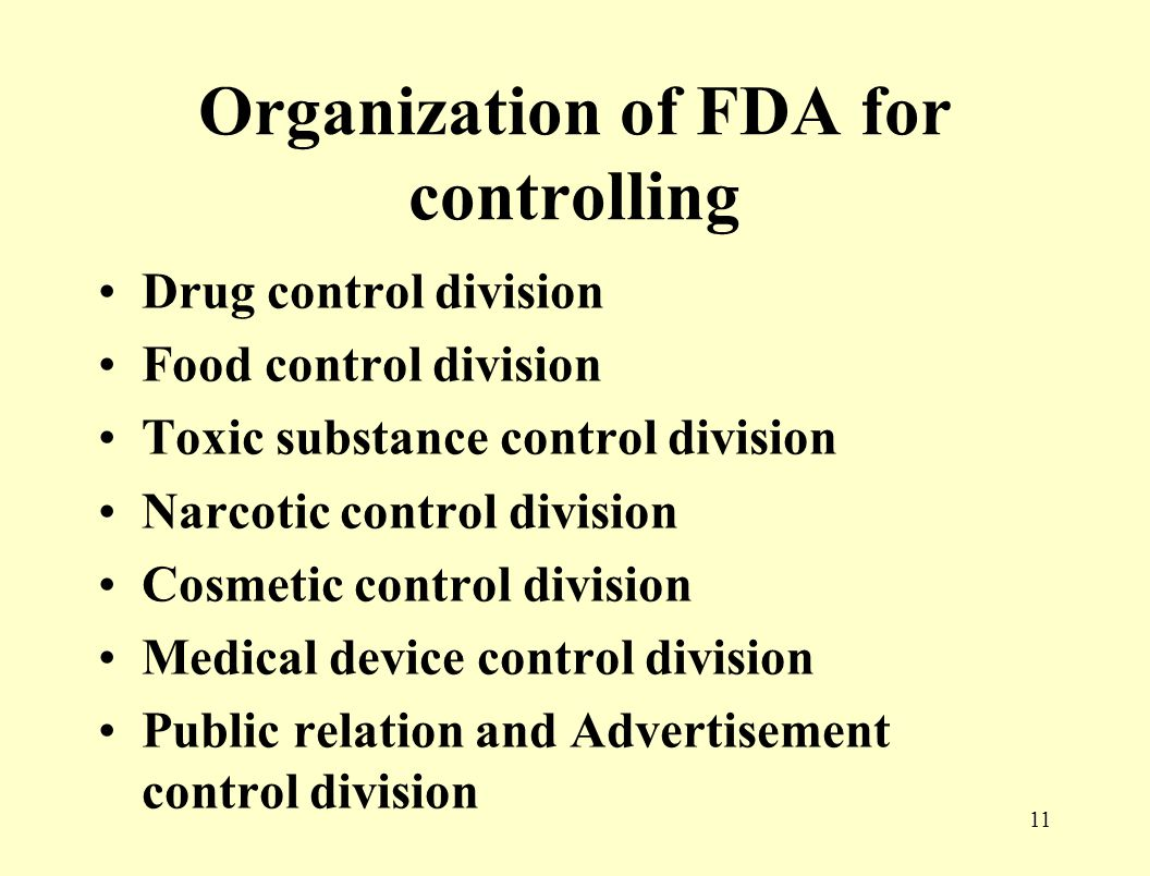 10 Administration of Acts Committees of drug, food, narcotics, cosmetics etc.