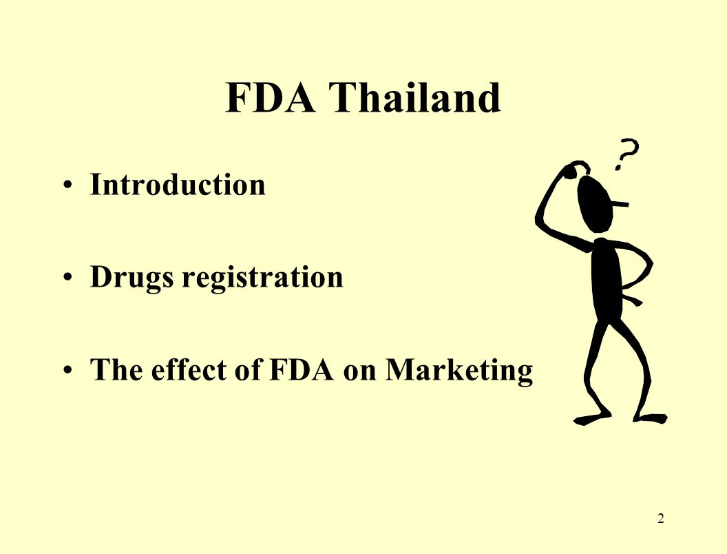 1 FDA Thailand By HIV Module/Marketing Group Mr. Manaswee Arayasiri