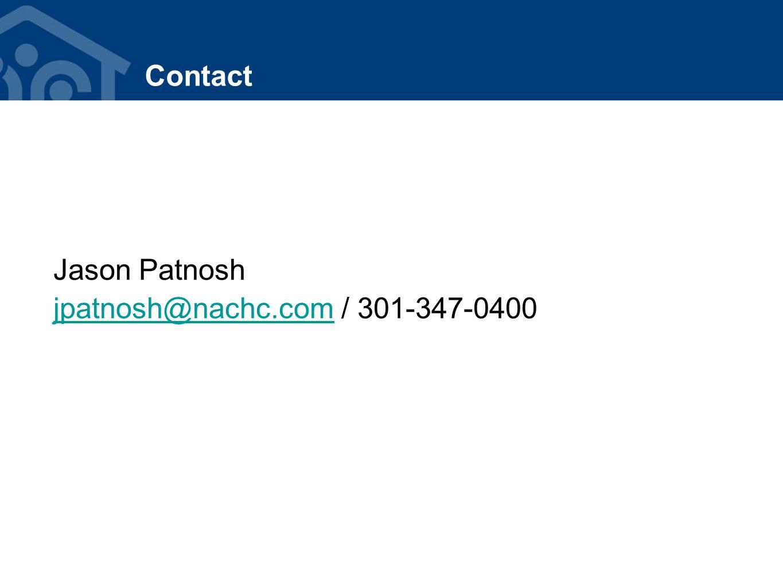 Contact Jason Patnosh jpatnosh@nachc.comjpatnosh@nachc.com / 301-347-0400