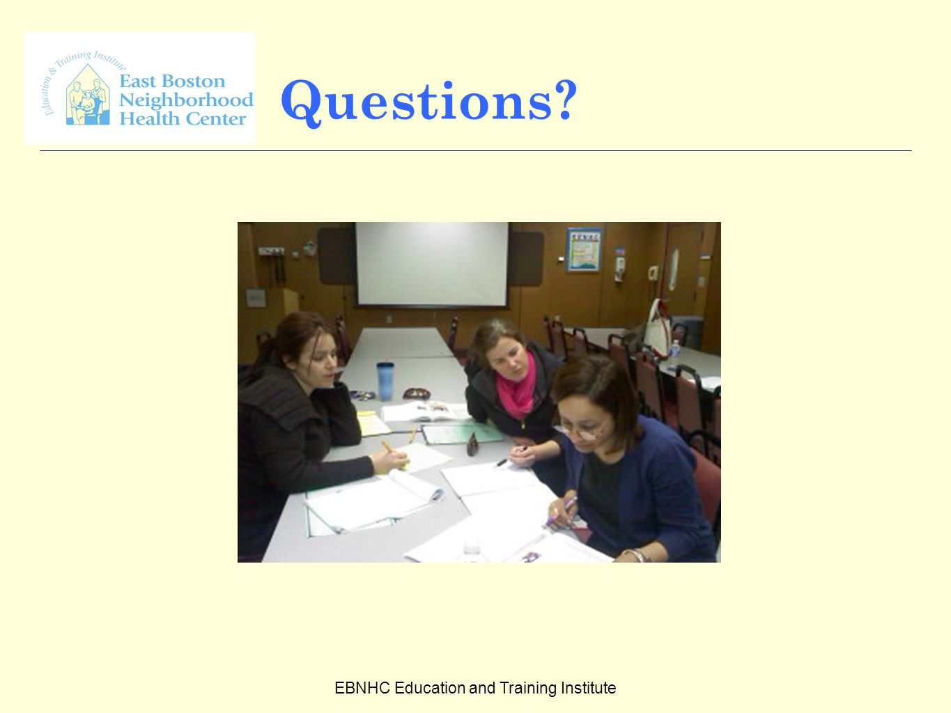 EBNHC Education and Training Institute Questions