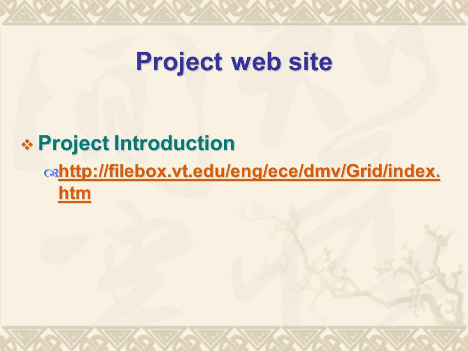 Project web site  Project Introduction 