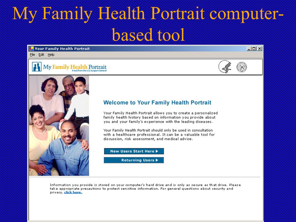 My Family Health Portrait computer- based tool