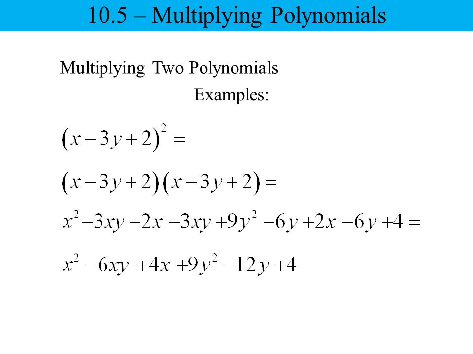 Simplify Each Polynomial Adding And Subtracting Polynomials Ppt