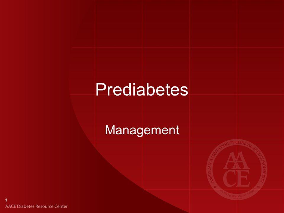 1 Prediabetes Management