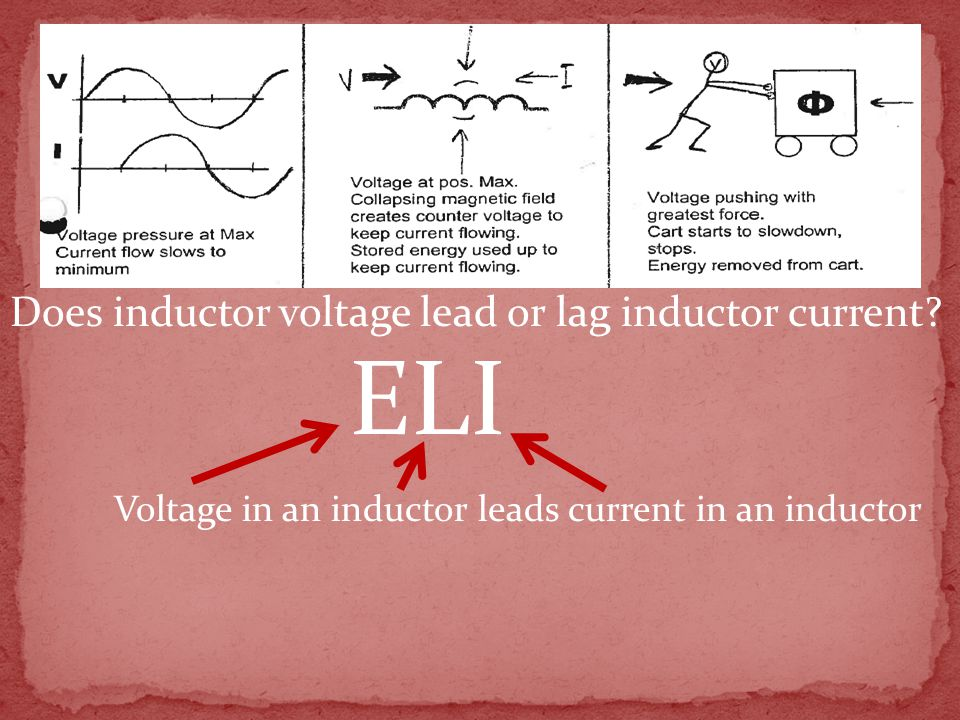 Does inductor voltage lead or lag inductor current.