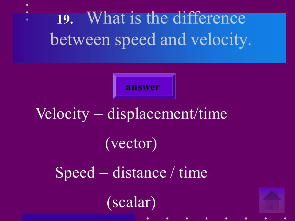 18. What is a vector. Give examples. Vectors are quantities with a magnitude and a direction.
