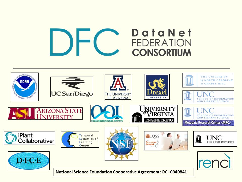 National Science Foundation Cooperative Agreement: OCI