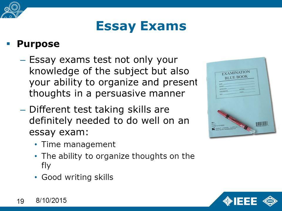 Essay Test Taking Strategies