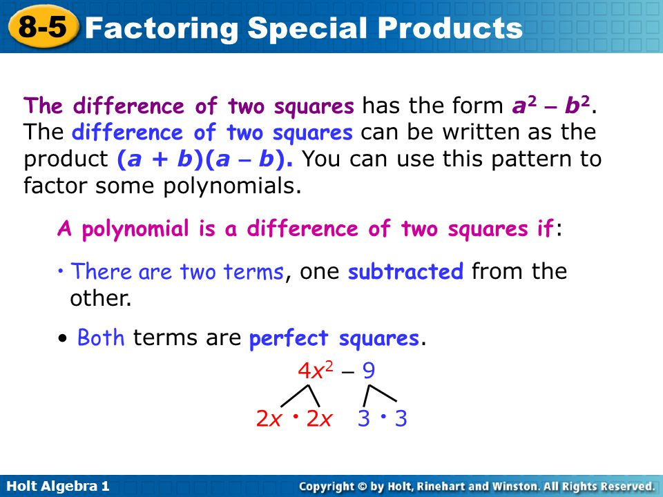 Factoringccs – Factoring Special Products Worksheet