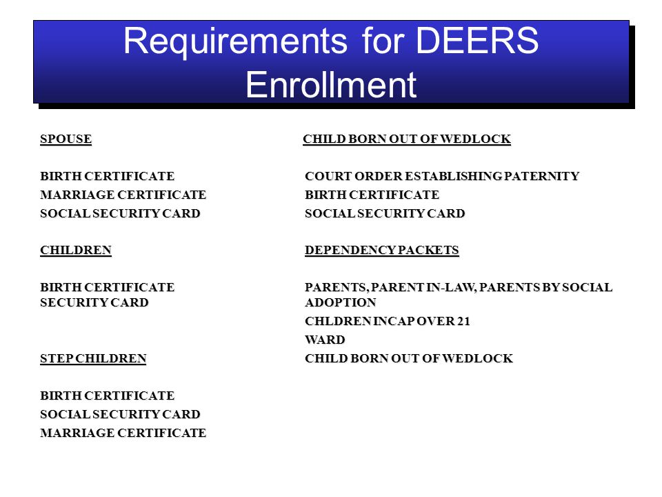 ID CARD SECTION REQUIREMENTS FOR RETIRED ID CARD REQUIREMENTS FOR ...