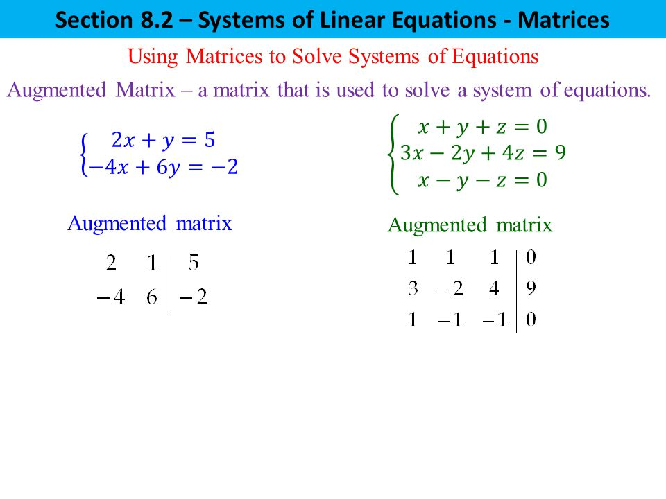 Solving Systems Of Equations With Matrices Worksheet Answers – Matrices Worksheet
