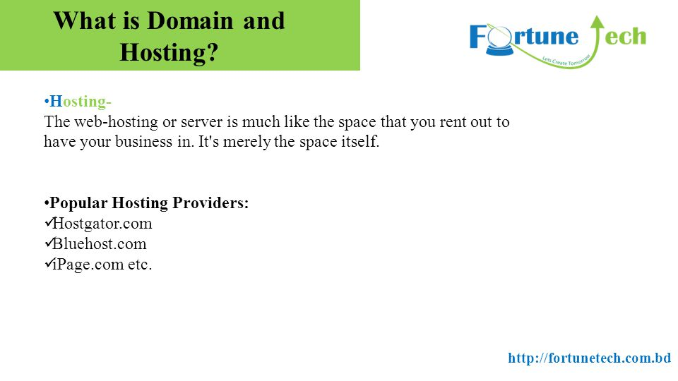 What is Domain and Hosting.