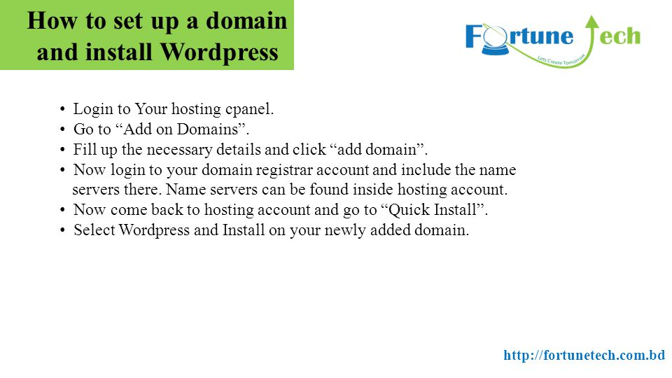 How to set up a domain and install Wordpress Login to Your hosting cpanel.