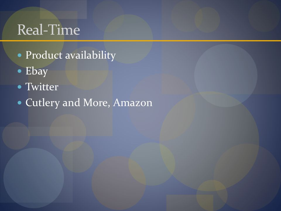 Real-Time Product availability Ebay Twitter Cutlery and More, Amazon