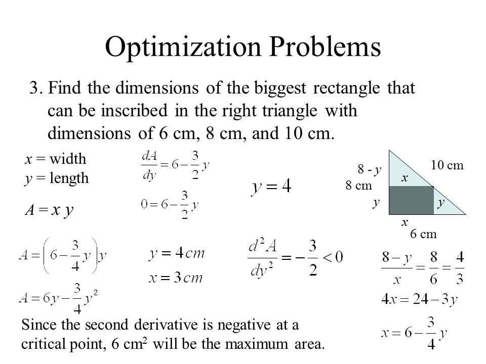 Optimization Problems 1. Express the number 10 as a sum of two ...