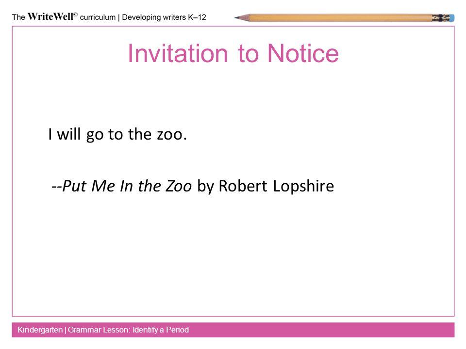 Identify a period kindergarten grammar lesson identify a period 2 invitation stopboris Gallery