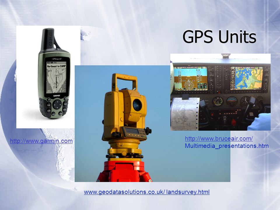 GPS Units   landsurvey.html     Multimedia_presentations.htm