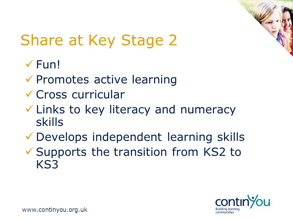 Share at Key Stage 2 Fun.