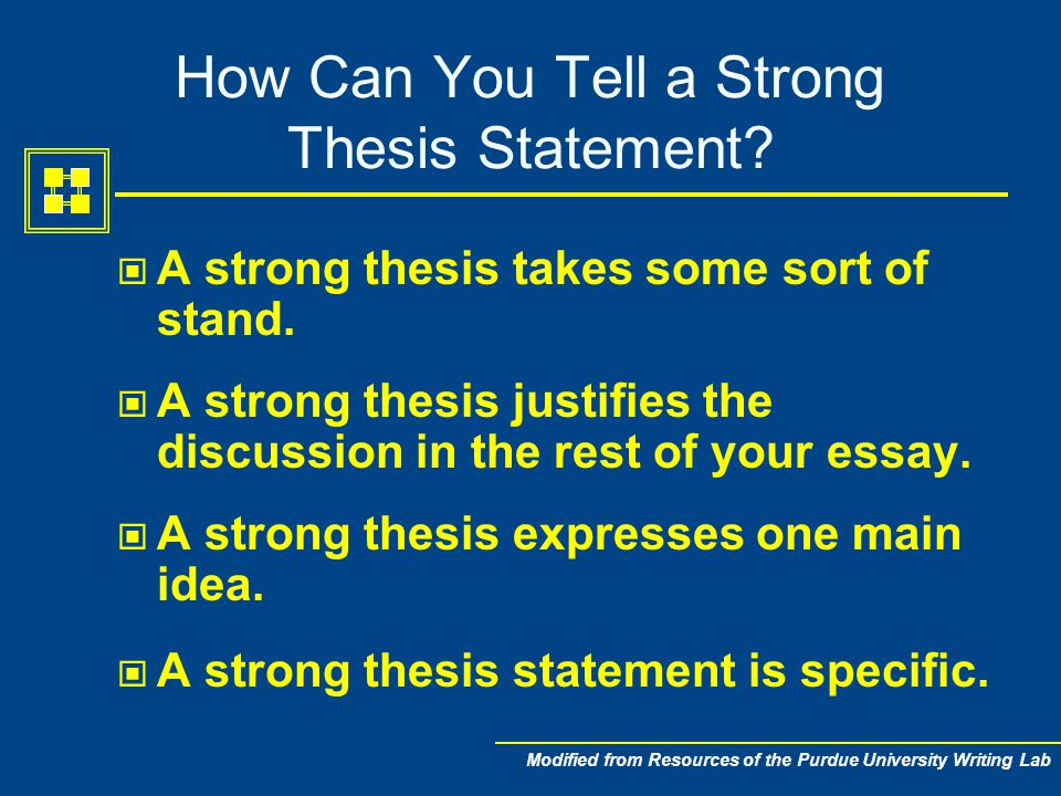 defensible thesis statement Include a defensible, relevant thesis statement in the first paragraph describe three [] back to homepage academic help online – thesis, major points, and plan.