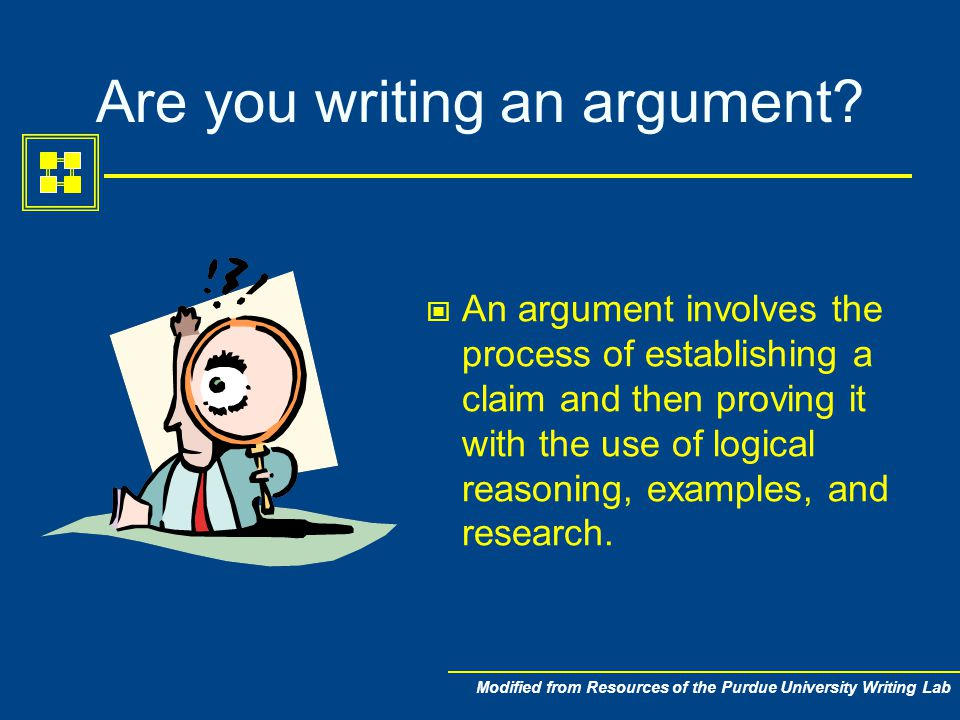 argument paper research