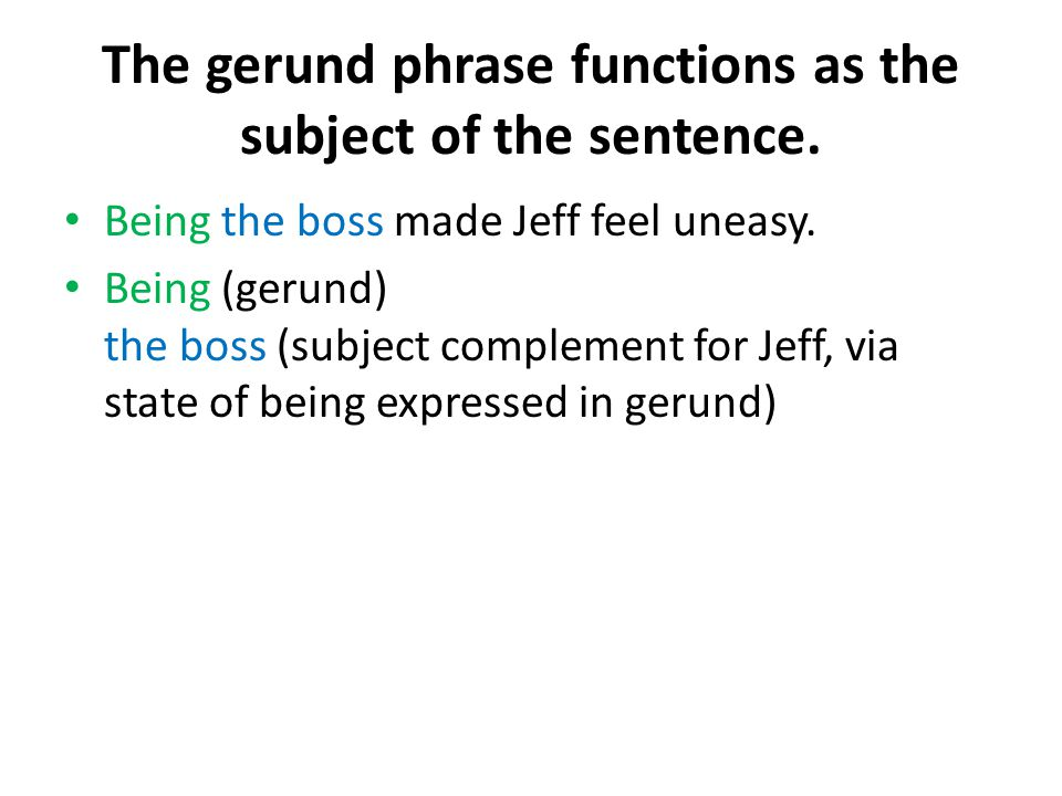 The gerund phrase functions as the subject of the sentence.