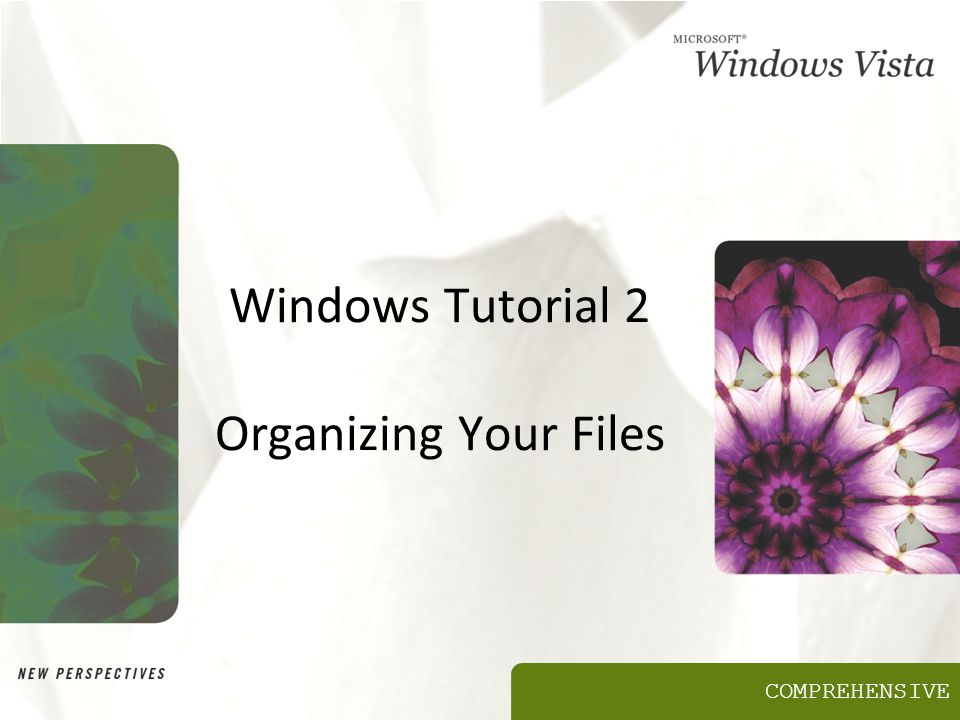 COMPREHENSIVE Windows Tutorial 2 Organizing Your Files