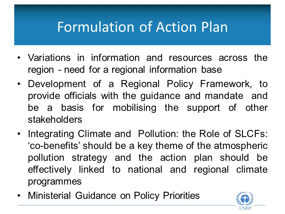 Objetivos de la Red Intergubernamental Variations in information and resources across the region - need for a regional information base Development of a Regional Policy Framework, to provide officials with the guidance and mandate and be a basis for mobilising the support of other stakeholders Integrating Climate and Pollution: the Role of SLCFs: 'co-benefits' should be a key theme of the atmospheric pollution strategy and the action plan should be effectively linked to national and regional climate programmes Ministerial Guidance on Policy Priorities Formulation of Action Plan
