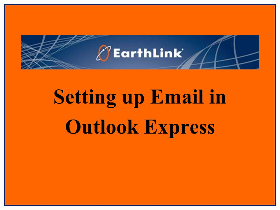 Setting up  in Outlook Express