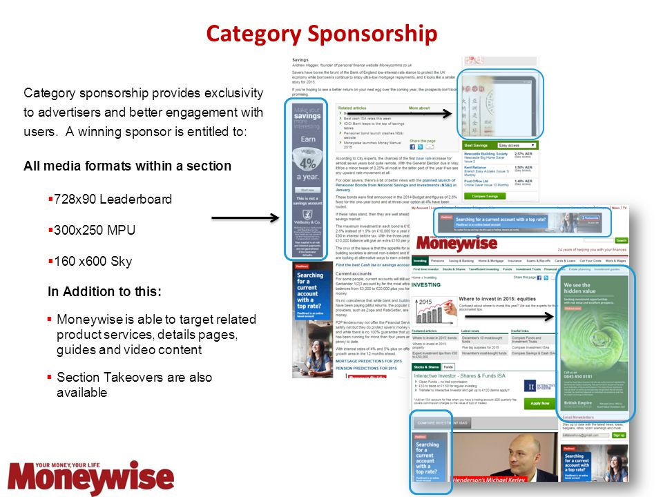 Category Sponsorship Category sponsorship provides exclusivity to advertisers and better engagement with users.