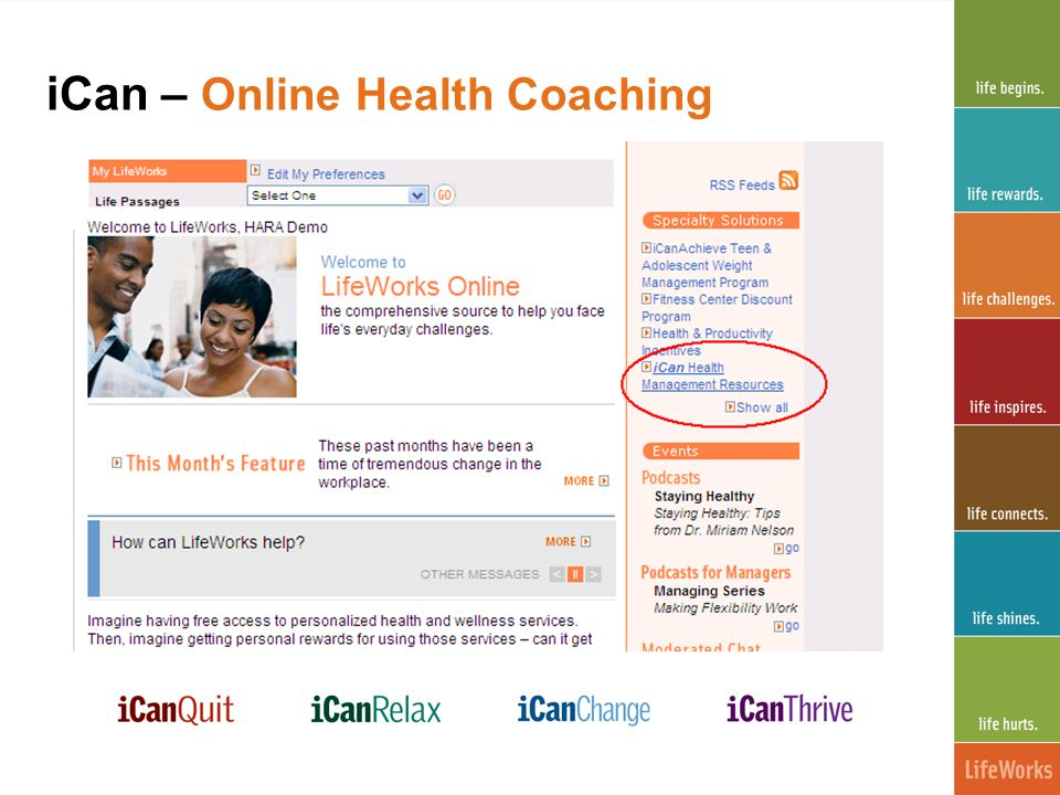 iCan – Online Health Coaching