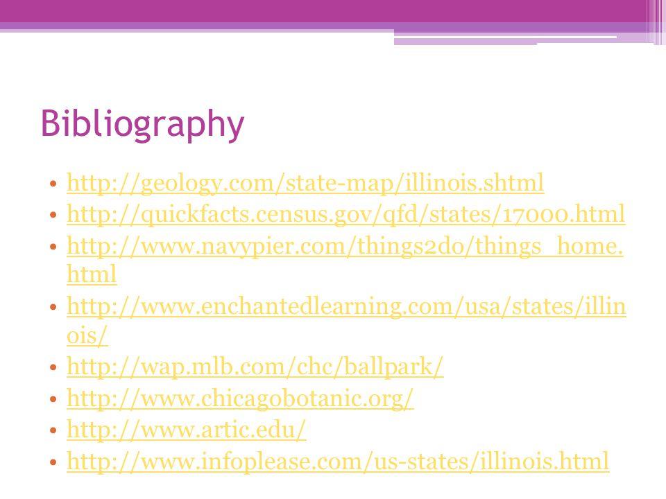 Bibliography Geology Com State Map Illinois Shtml