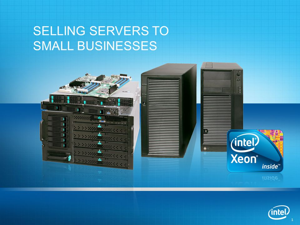 1 1 SELLING SERVERS TO SMALL BUSINESSES