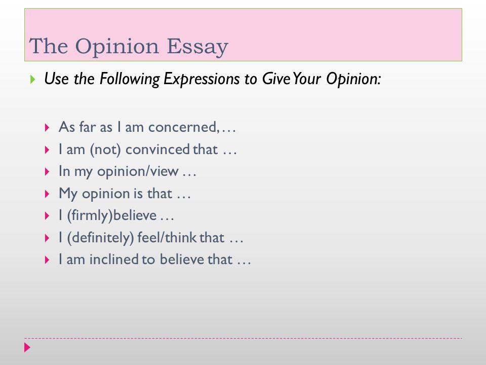 Write my opinion essay