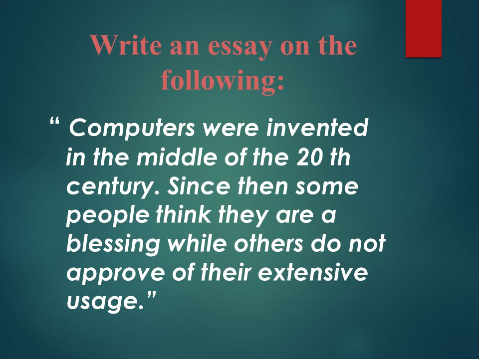 computers cannot think essays Advice on how to buy essays online 15 hot essay topics on computers it's not a secret that the internet is not as good and useful as you might think.