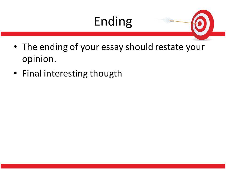 ending essay