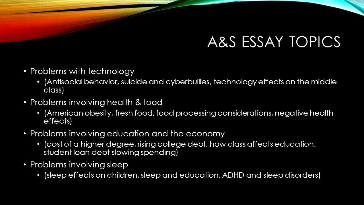 technical essay topics