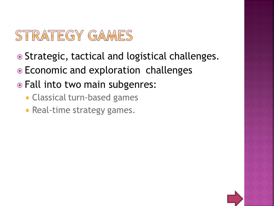 Strategic, tactical and logistical challenges.